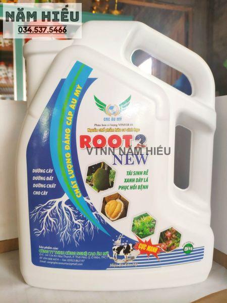 Hữu cơ ROOT 2 USA 5L đậm đặc - Phân bón tưới gốc rễ - Giàu dưỡng chất cho hoa kiểng - Kích rễ cực mạnh - Siêu kích đọt - Dày lá - Hạ phèn, Giải độc, humic