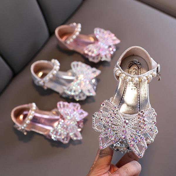 Giá bán Giày Da Mềm Chống Trượt Đính Ngọc Trai Thời Trang Cho Bé Gái (2-18 Tuổi) T20N12LS-12
