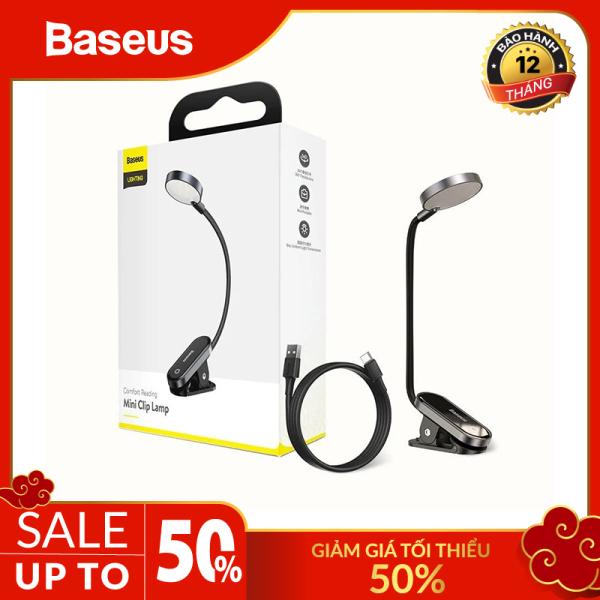 Bảng giá Đèn đọc sách mini, pin sạc tiện dụng Baseus Comfort Reading Mini Clip Lamp ( Dịu mắt, chân kẹp, 3 mức sáng, 350mAh, 24h sử dụng)