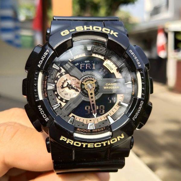 Đồng hồ nam G-Shock Ga110 thể thao Kim điện tử full box, Chống nước, chống va đập, nam tính mạnh mẽ 3 màu lựa chọn, 55mm