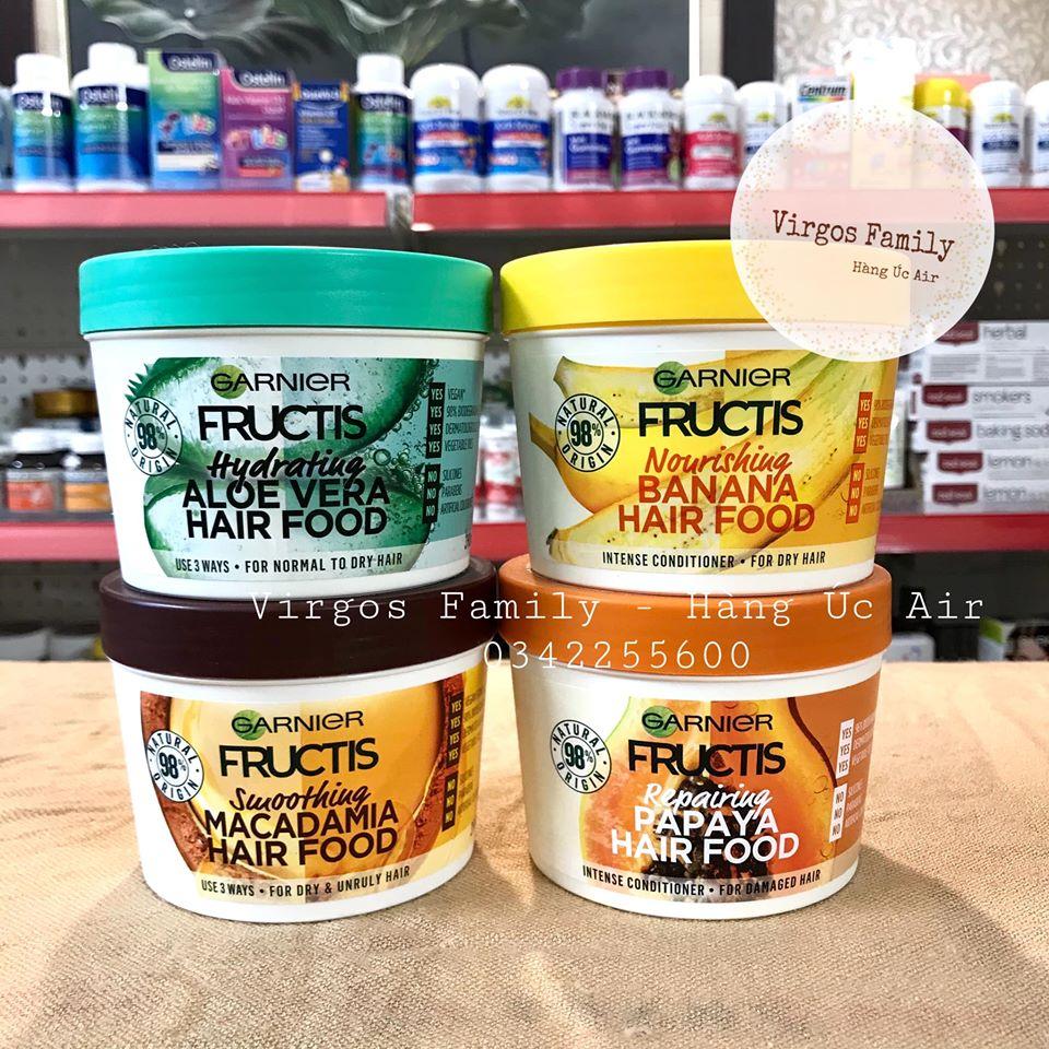 Dầu xả + ủ tóc Garnier Fructis trái cây hữu cơ 390g