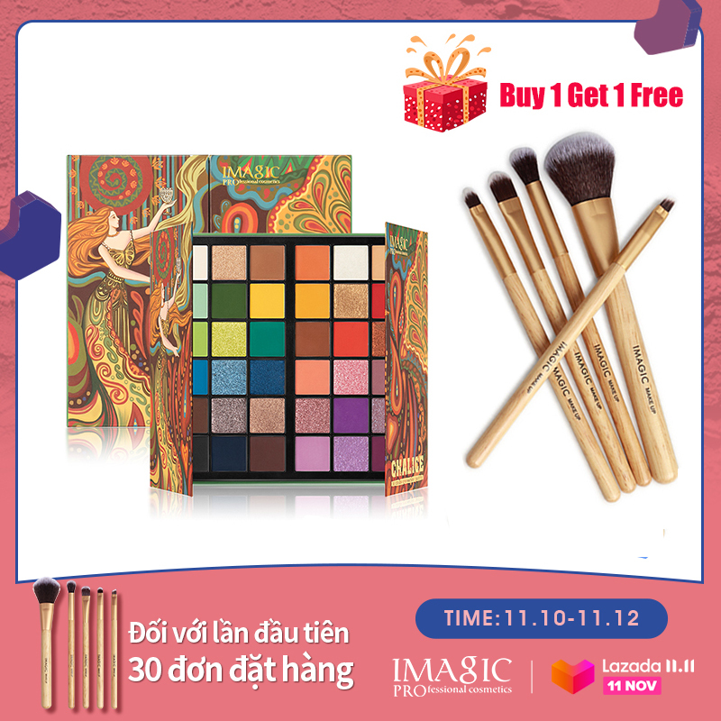 IMAGIC 36 Màu Eyeshadow Matte Shimmer Pearlescent Cầu Vồng Holy Grail Eye Palette