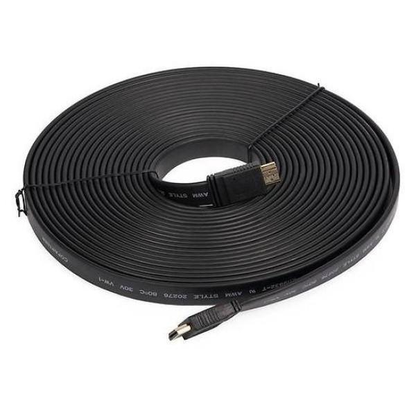 Dây cáp HDMI 15m dẹp 1.4/Dây cáp kết nối TV dẹt độ nét cao 2 đầu HDMI 15m /Dây cap dẹt truyền tín hiệu HDMI 15m Full HD