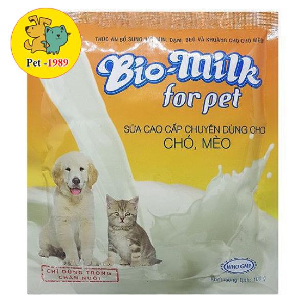 🐶Bio Milk 100gr Sữa cao cấp chuyên dùng cho chó, mèo🐶 Pet-1989