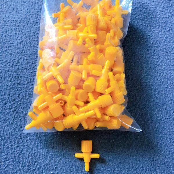 Bộ 10 Van Chữ T Chỉnh Và Chia Oxy Hồ Cá Cảnh Màu Vàng Loại Tốt Dùng Dây 4ly 5ly