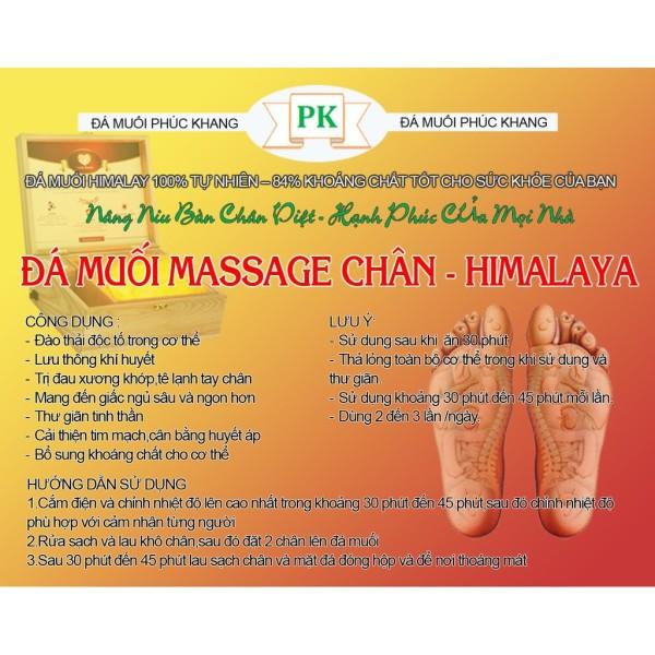 Đá muối Himalaya massage chân mặt thẳng- Hộp sơn cao cấp Phúc Khang Gía tốt
