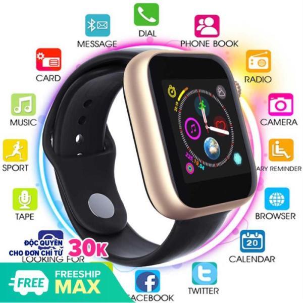 [ Smart Watch] Đồng Hồ Thông Minh Smart Watch Z6- Lắp Sim Nghe Gọi Trực Tiếp, Chống Nước, Chống Bám Bẩn- Đo Nhịp Tim, Bước Đi, Nghe Nhạc, Chụp Ảnh Từ Xa