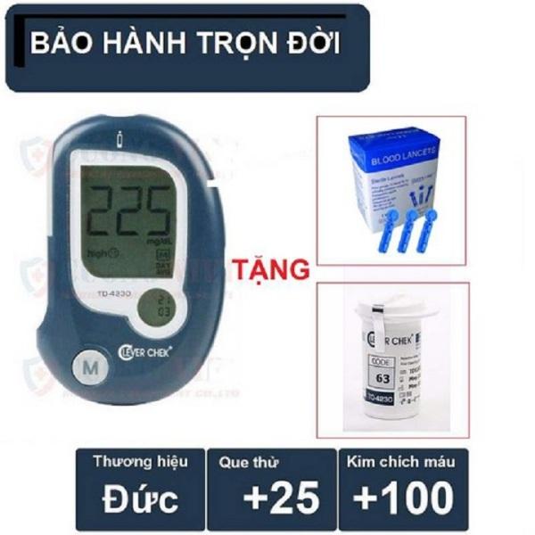 Máy đo đường huyết Clever Chek Kèm 25 que thử và 100 kim bán chạy