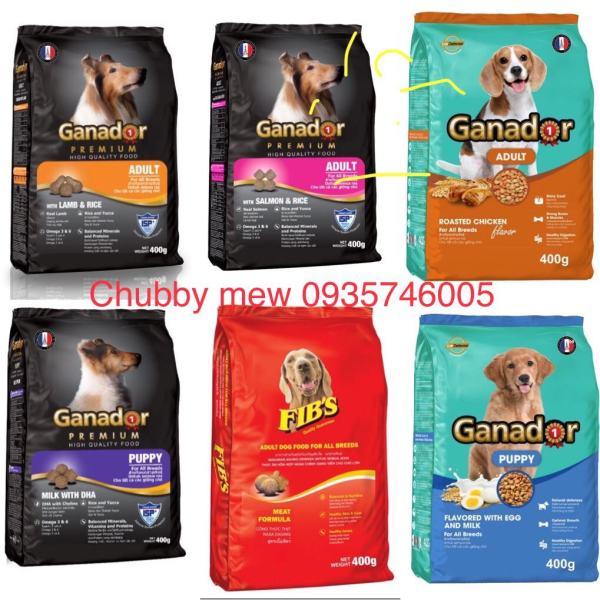 COMBO 5 gói x 400gr Thức ăn cho chó Ganador - FIBs 400 - adult - puppy