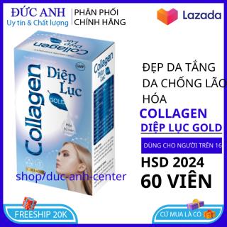 Viên uống đẹp da Collagen diệp lục đẹp da-trắng hống chống lão hóa tăng nội tiết nữ giới hộp 30 viên HSD 2024 thumbnail