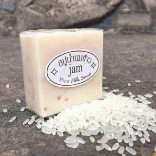 [ TẶNG QUÀ + FREESHIP ]Xà Phòng Kích Trắng Cám Gạo Thái Lan Jam Rice Milk Soap thumbnail