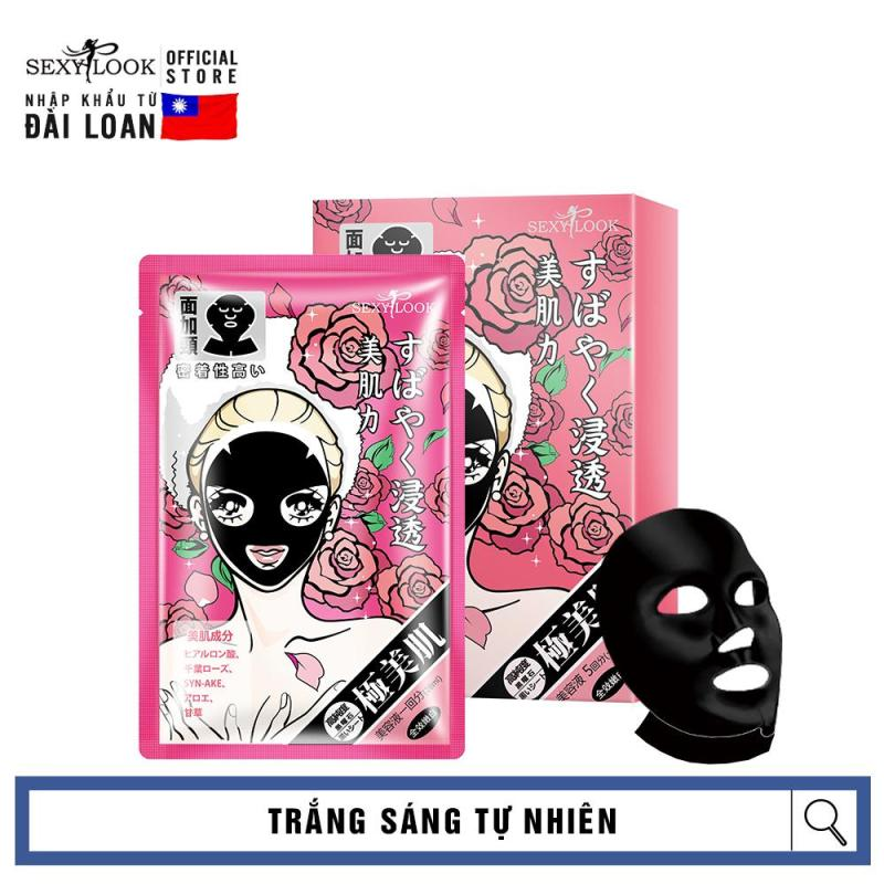 Mặt nạ đen 4D SEXYLOOK TRẮNG SÁNG TỰ NHIÊN chính hãng Đài Loan (5 miếng/hộp) nhập khẩu