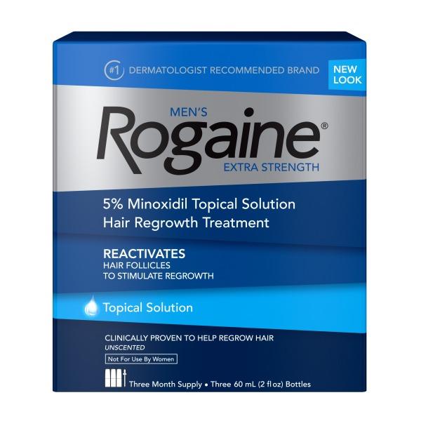 Dung dịch giúp mọc tóc dành cho nam giới Rogaine Extra Strength ( Hộp 3 chai ) giá rẻ