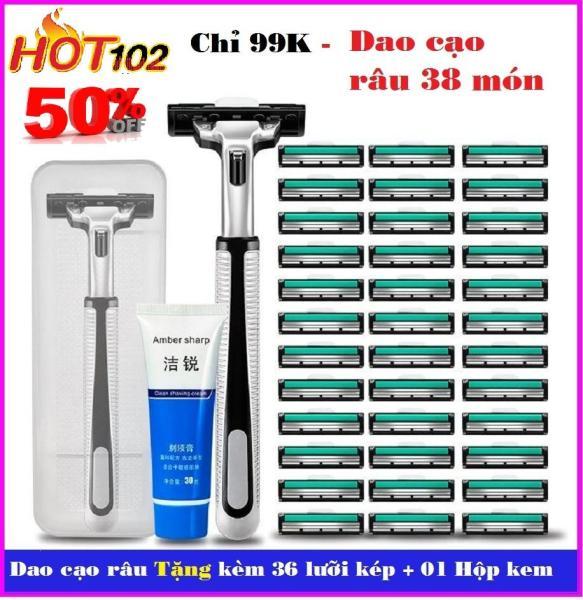 ❄️ Combo 1 dạo cạo râu và 30 lưỡi dao kép Dao cạo râu ❄️ giá rẻ