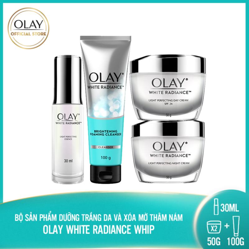 [PHIÊN BẢN GIỚI HẠN] Trọn bộ 4 sản phẩm dưỡng da trắng sáng rạng rỡ Olay White Radiance Light Perfecting giá rẻ