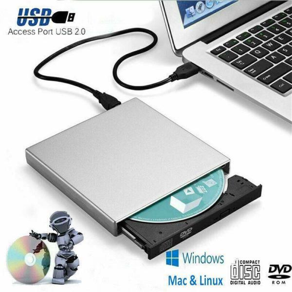 Bảng giá USB Universal bên ngoài USB DVD ROM CD ROM Drive Rewriter Burner Writer cho máy tính xách tay MAC Phong Vũ