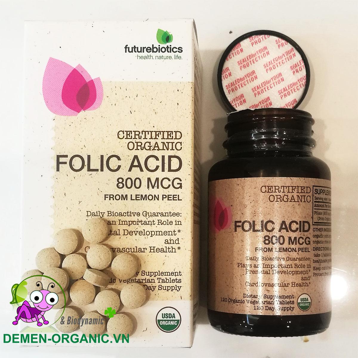 FutureBiotics Folic Acid 800 mcg từ vỏ chanh hữu cơ (120v)