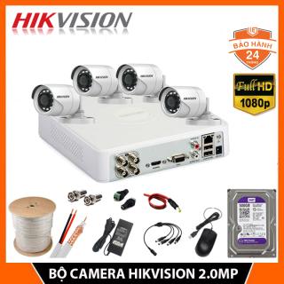 Trọn Bộ Camera giám sát HIKVISION 2.0MP, FHD - [ ĐỦ BỘ 1-4 MẮT 2.0MP]- Kèm HDD 500GB, Đủ phụ kiện tự lắp đặt - Bảo hành 24 tháng thumbnail