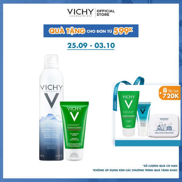 Bộ xịt khoáng dưỡng da Vichy Mineralizing Thermal Water nhập khẩu