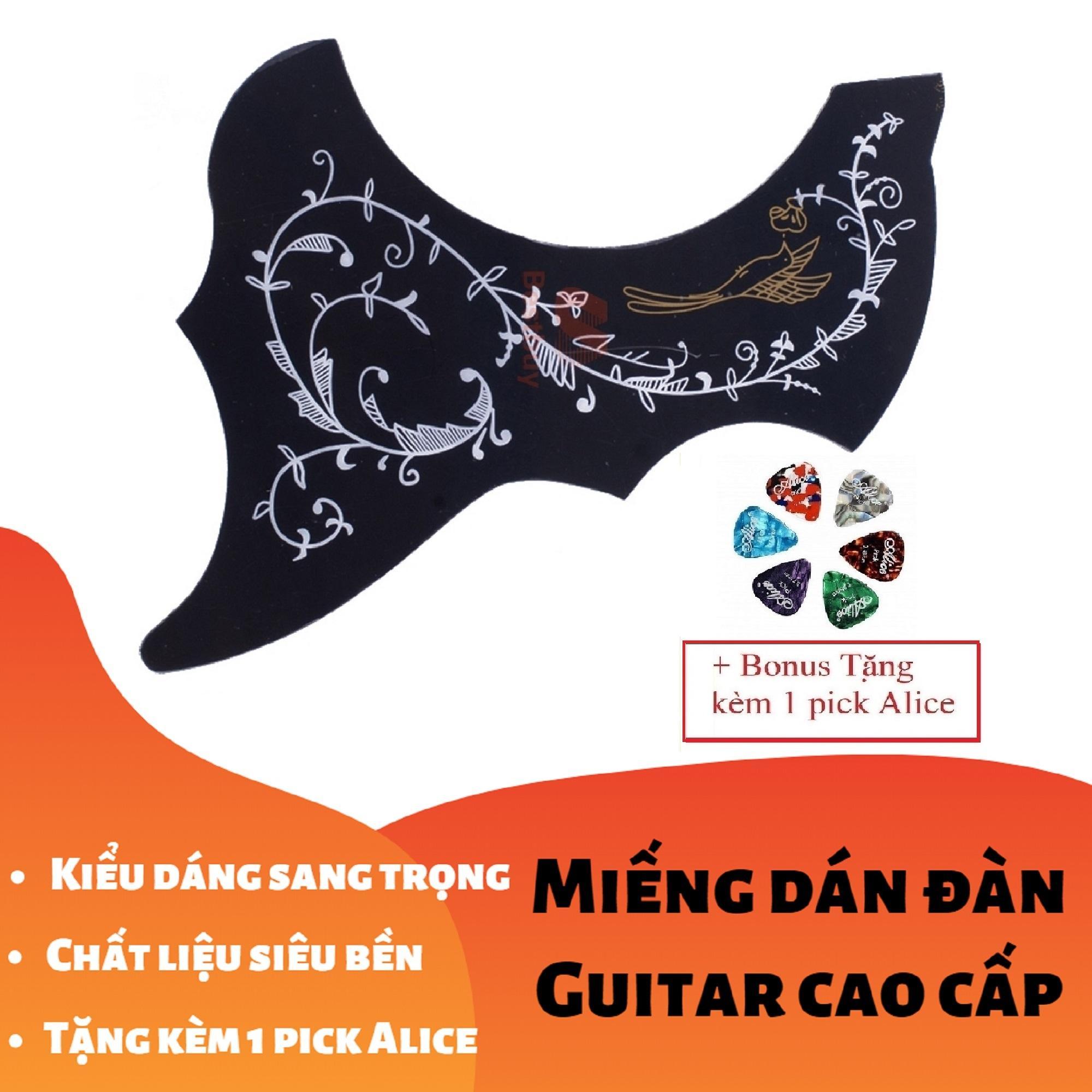 [RẺ GIẬT MÌNH] Miếng Dán Cao Cấp Trang Trí, Bảo Vệ đàn Ghi-ta Hình Nghệ Thuật Họa Tiết Chim (Guitar PickGuard) - Tặng Kèm 1 Pick Alice Đang Giảm Giá