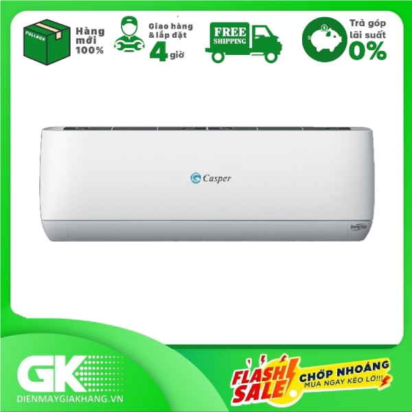 [Nhập ELAPR21 giảm 10% tối đa 200k đơn từ 99k][THU THẬP VOUCHER GIẢM 1.000K TỪ LZD] Máy lạnh Casper Inverter 2 HP GC-18TL32