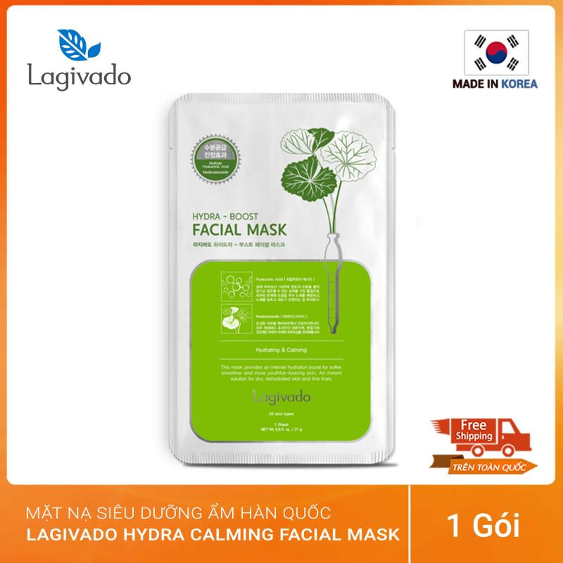 Mặt nạ dưỡng da siêu dưỡng ẩm, làm dịu da cho làn da căng bóng và mềm mịn Hàn Quốc Lagivado Hydra Calming Facial Mask nhập khẩu