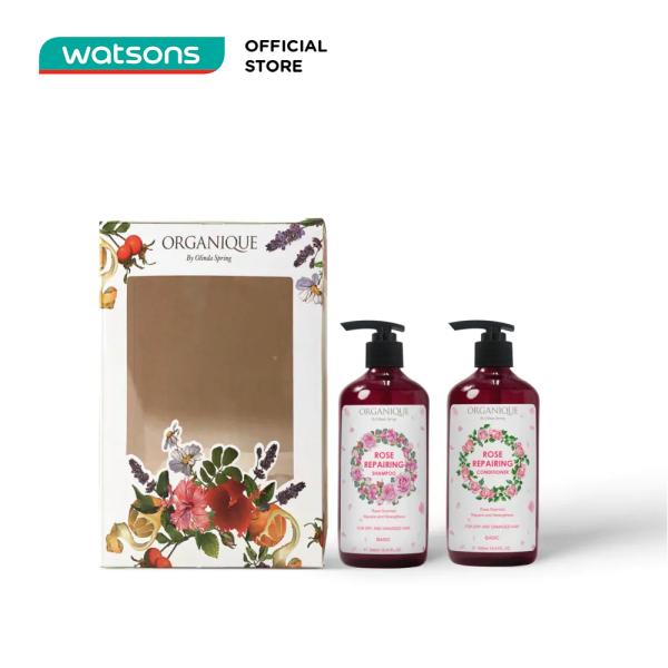 Bộ Quà tặng Organique Rose Gift Box For Hair Hương Hoa Hồng Cho Tóc (Dầu Gội 500ml + Dầu Xả 500ml)