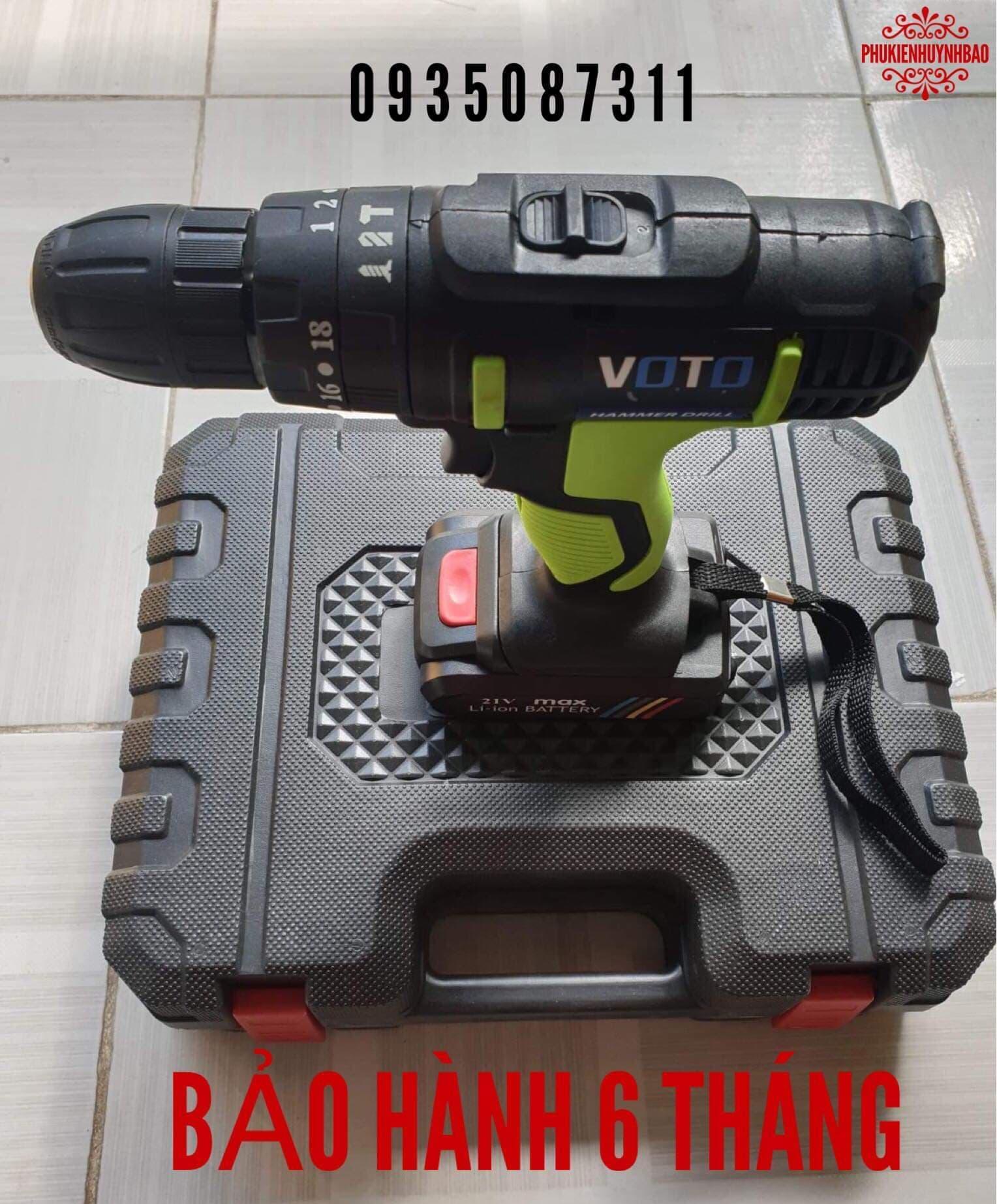 Máy Khoan Pin 3 Chức Năng 21V VOTO,1 Pin,Bảo Hành 6 Tháng.
