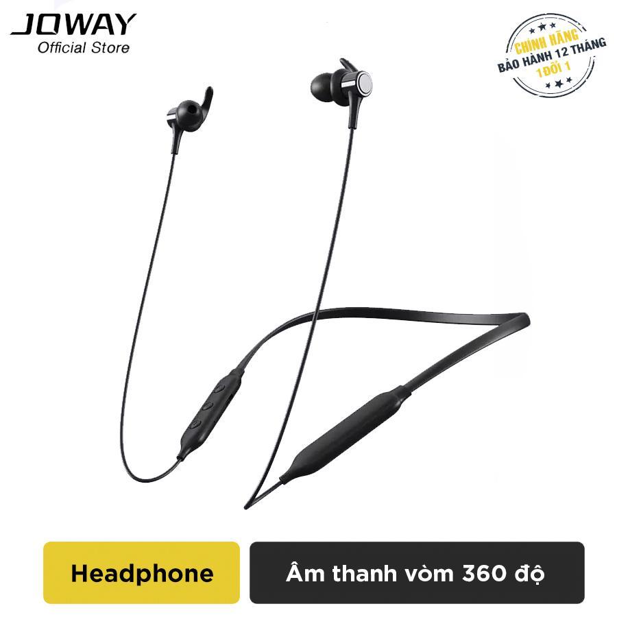 Tai nghe Bluetooth JOWAY H72 Extra Bass, bản thay thế JOWAY H09 hỗ trợ đàm thoại 10h, nghe nhạc 9h, chống nước, mồ hôi, chống ồn cao cấp - Hãng phân phối chính thức