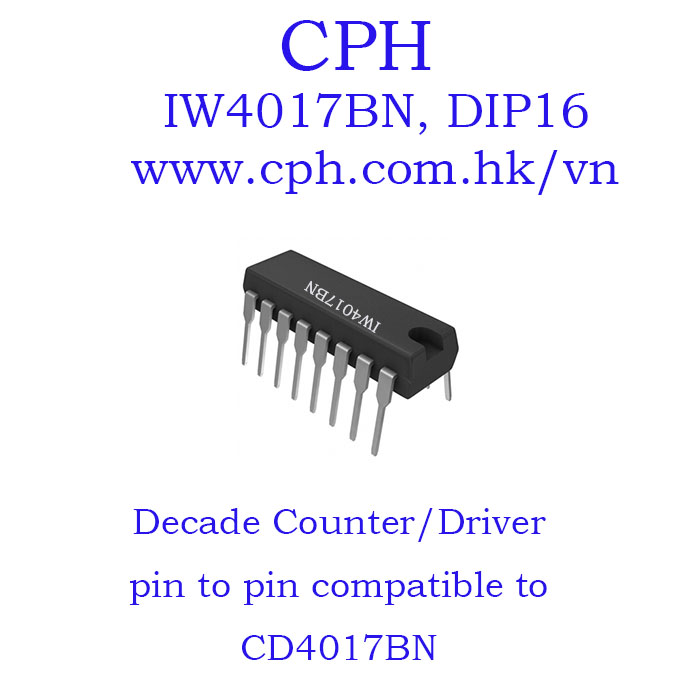 Giá 5pcs IW4017BN CD4017BN IW4017 CD4017 DIP16 IKSemicon Decade Counter/Driver