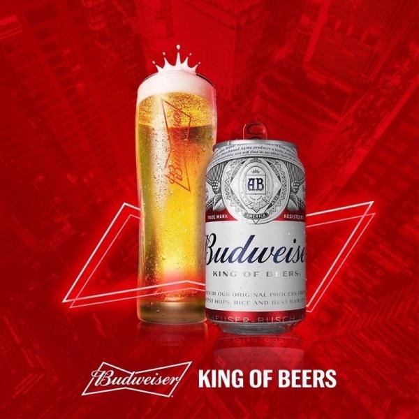 Bia Budweiser 330 ml lốc 4 lon