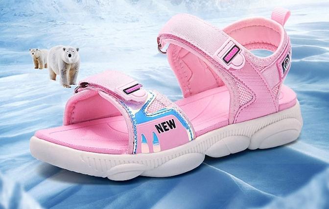 Sandal bé gái - giày đi học bé gái HQS52 giá rẻ