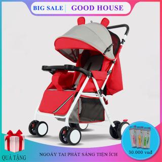 Xe nôi xe đẩy em bé hai chiều phiên bản cao cấp hai tư thế nằm ngồi siêu nhẹ có thể gấp, xách tay cho bé 0-3 tuổi. Bảo hành 2 năm, lỗi 1 đổi 1 trong 7 ngày thumbnail