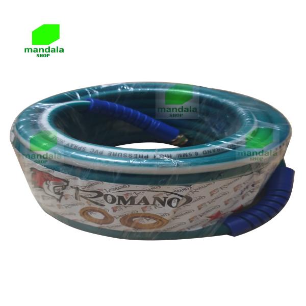 Dây rửa xe - dây phun xịt 20m cá sấu Romano cho máy rửa xe chạy mô tơ