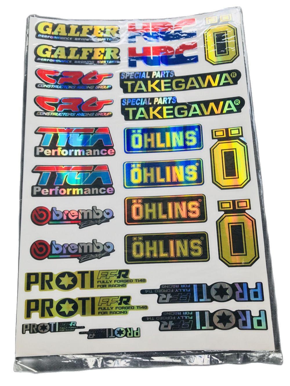 Bộ tem logo, tem crom bóng nhiều kiểu (mẫu 1) dán các loại xe máy, tem crom phũ keo bóng ít bay màu theo thời gian