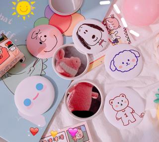 Combo 4 Gương Mini Bỏ Túi Cute thumbnail