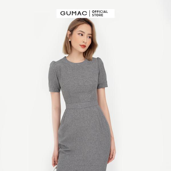 Nơi bán Đầm nữ xếp ly eo GUMAC mẫu mới DB528, thiết kế ôm body cao cấp.