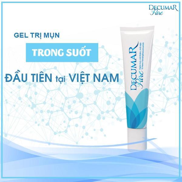 Gel ngừa mụn Siêu Nghệ Nano trong suốt Decumar Pure 15gr công nghệ Nano Nghệ trắng đầu tiên tại Việt Nam