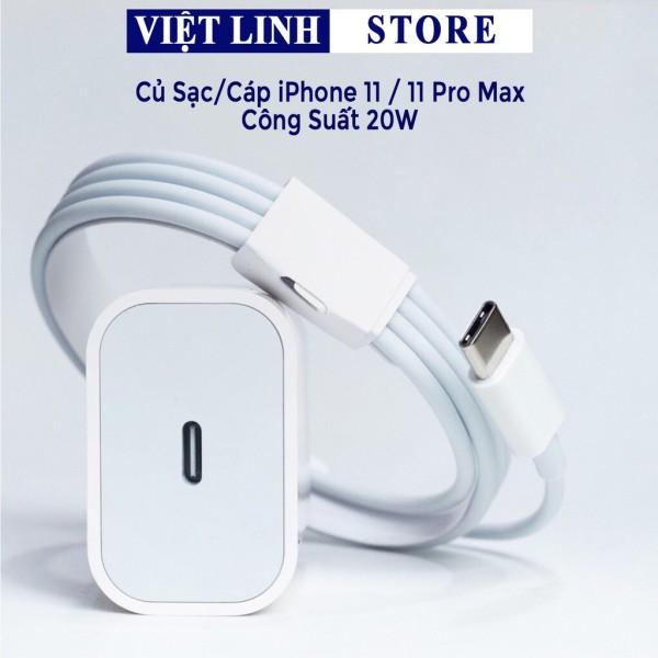 Củ sạc nhanh iPhone chính hãng PD 20W USB-C. Cáp sạc nhanh USB-C Lightning 8/8P/X/XS/11/11Pro - Việt Linh Store