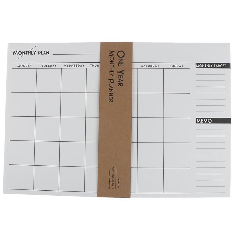 NIHAI 2020 Year Calendar Monthly Planner Personal Agenda Planner Organizer