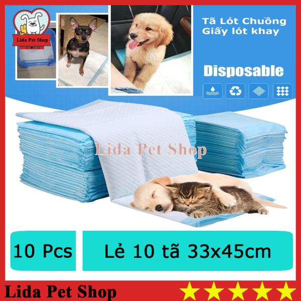 HN- (Lẻ 10 miếng ) Miếng tã lót khay vệ sinh chó mèo /  bỉm chó mèo /tã lót chuồng chó / giấy lót chuồng chó mèo / tã giấy lót chuồng chó, lót sàn xe/ giấy vệ sinh chuột hamster