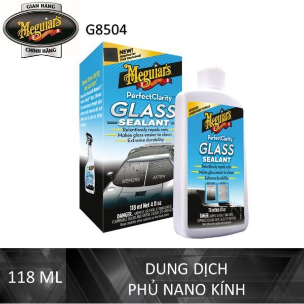 Meguiars Lớp phủ bảo vệ kính xe tạo hiệu ứng lá sen - Perfect Clarity Glass Sealant - G8504, 4 oz