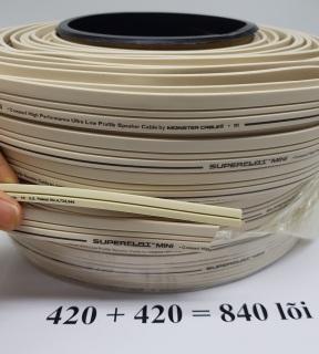 8 mét Dây loa Monster SUPERFLAT MINI 2 lõi 840 sợi 2 lõi mỗi lõi 3.52mm đồng nguyên chất thumbnail
