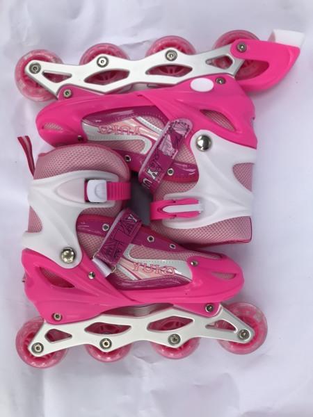 Phân phối Giày trượt patin màu hồng dành cho bé có bánh phát sáng