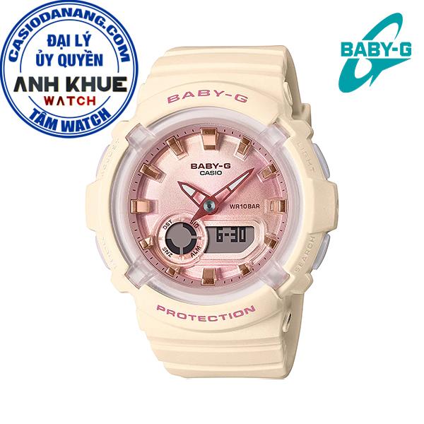 Đồng hồ nữ dây nhựa Casio Baby-G chính hãng Anh Khuê BGA-280-4A2DR (43mm)