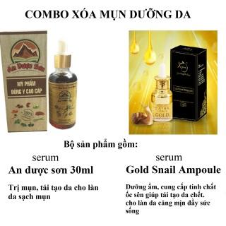 Combo 1 Bộ Serum An Dược Sơn đánh bay mụn thâm sẹo rỗ 30ml + 1 Serum dưỡng đẹp mịn da Ốc Sên Gold Snail Ampoule 20ml thumbnail