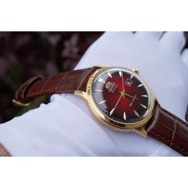 [FREESHIP] Đồng hồ nam Orie Bambino Gen 1 FAC00002W0 mặt xanh viền vàng hồng case 40.5mm. 3atm bán chạy