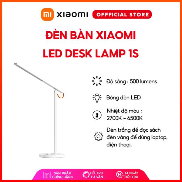Đèn để bàn Xiaomi Led Desk Lamp 1S - Độ sáng 500 Lumens | Nhiệt độ màu : 2700K - 6500K | Đèn LED | Tuổi thọ ~25.000 giờ | Đèn trắng | Đèn Vàng - Bảo hành chính hãng 12 tháng