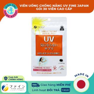 [CHÍNH HÃNG] Viên Uống Chống Nắng UV Fine Japan 30 viên [bảo vệ da của UVA và UVB và đồng bộ trên toàn cơ thể] Hàng Nhật Bản (được bán bởi Siêu Thị Hàng Ngoại) thumbnail