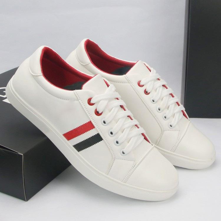 Giày nam Sneaker thể thao thời trang Udany kẻ sọc đỏ đen nổi bật trẻ trung năng động hot trend đi lại êm ái thoải mái tự tin SN0142